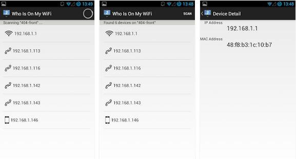 Capture d'écran Who's on my wifi iOS