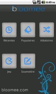 Capture d'écran Bloomee – Culture Générale