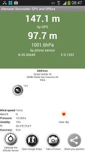 Capture d'écran Altimètre Baromètre Pro