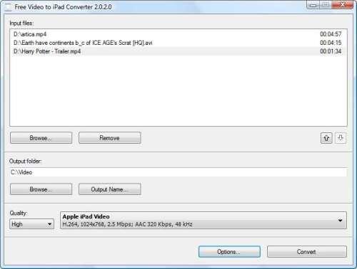Capture d'écran Free Video to iPad Converter