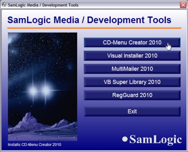 Capture d'écran SamLogic CD Menu Creator