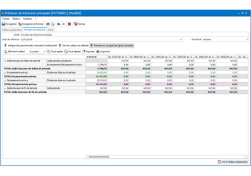 Capture d'écran EBP Comptabilité Ligne PME