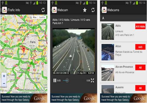 Capture d'écran Trafic Info & Webcams Android