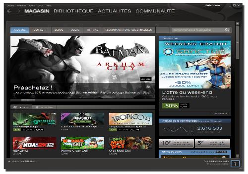 Capture d'écran Steam Linux