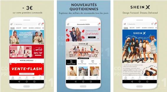 Capture d'écran Shein Android