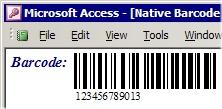 Capture d'écran MS Access Barcode Integration Kit