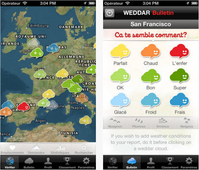 Capture d'écran Weddar iOS