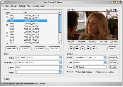 Capture d'écran Your Free DVD Ripper