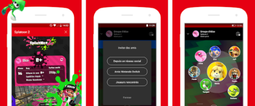 Capture d'écran Nintendo Switch Online Android