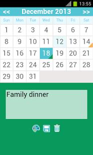 Capture d'écran Calendrier mensuel – moderne