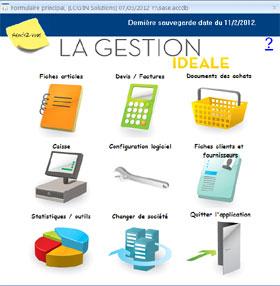 Capture d'écran Gestion commerciale Idéale 2012 point de vente