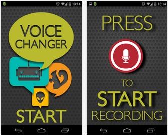 Capture d'écran Changeur de voix Android