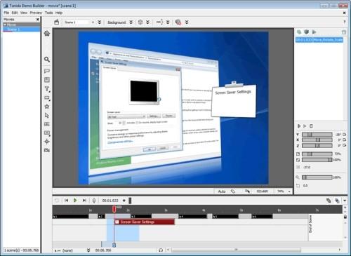 Capture d'écran Demo Builder