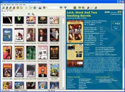 Capture d'écran Collectorz.com Movie Collector
