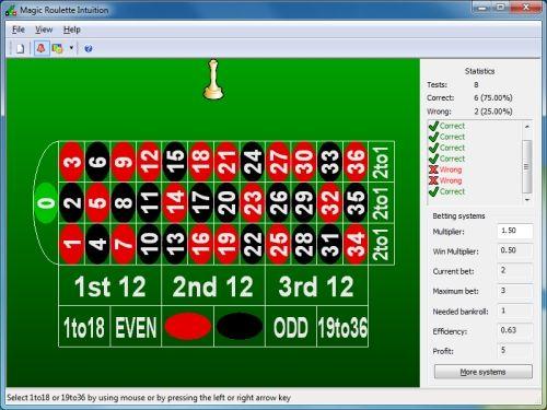 Capture d'écran Magic Roulette Intuition