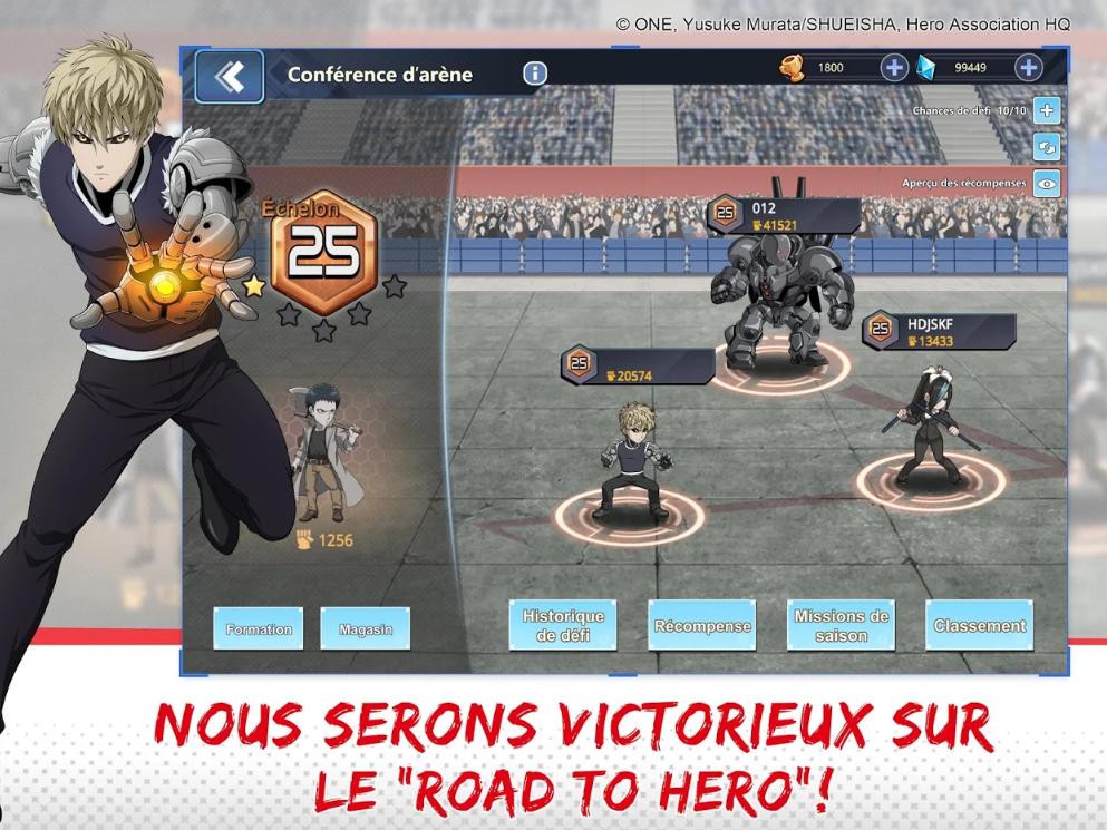 Capture d'écran One Punch Man : The strongest hero IOS