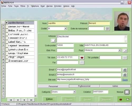 Capture d'écran Maya