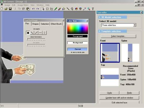 Capture d'écran Virtual Cover Creator