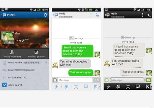 Capture d'écran Handcent SMS Android