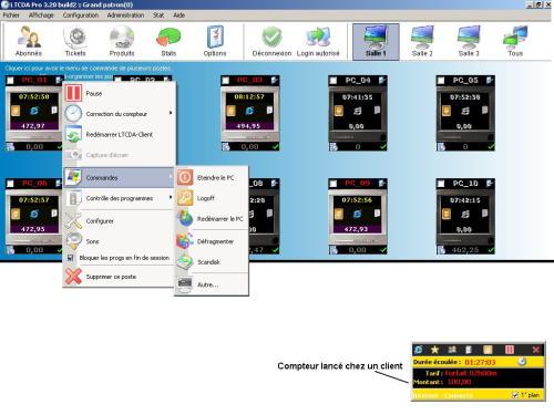Capture d'écran LTCDA Pro 3