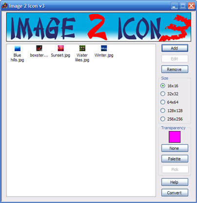 Capture d'écran free Image 2 Icon Converter