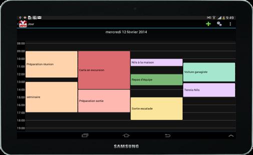 Capture d'écran Calendrier 2015