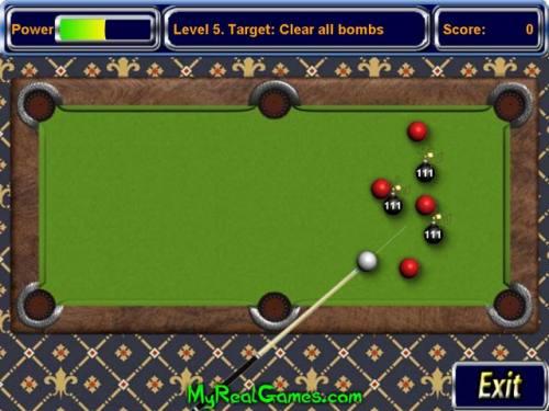 Capture d'écran Billiard Bombs