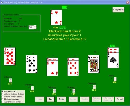 Capture d'écran Blackjack coach