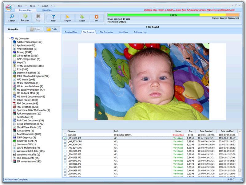Capture d'écran Undelete 360
