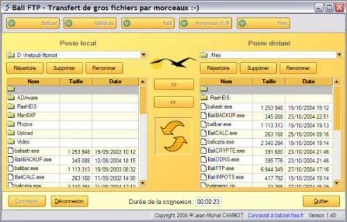 Capture d'écran Bali FTP