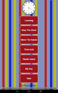 Capture d'écran Telling Time lire une horloge