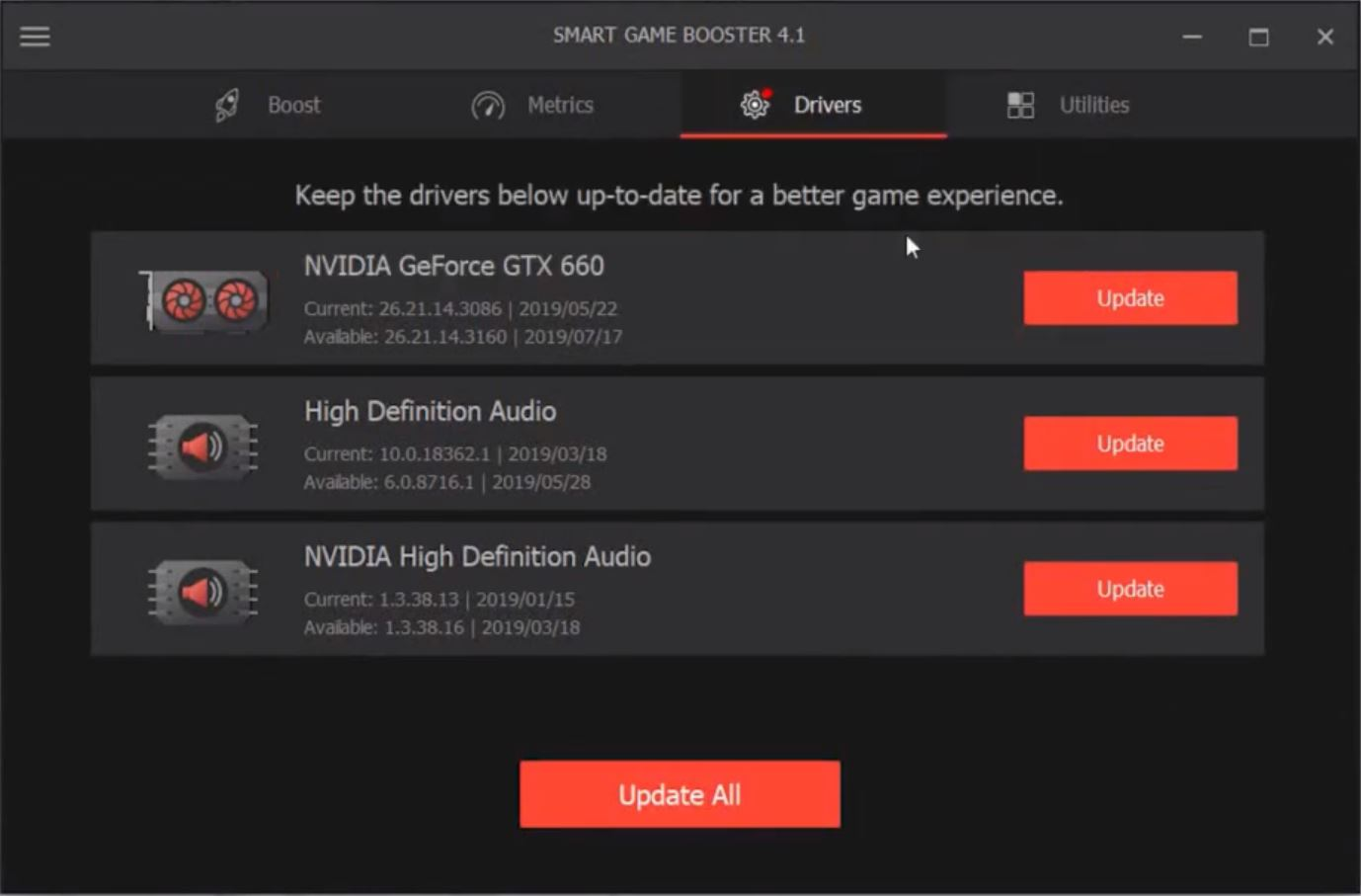 Capture d'écran Smart Game Booster