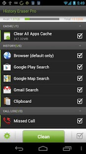 Capture d'écran History Eraser Pro – Cleaner