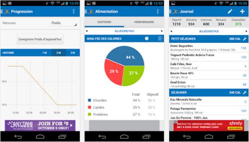 Capture d'écran Compteur de Calories Android