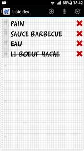 Capture d'écran Vocale liste des courses