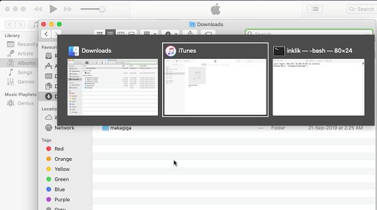 Capture d'écran Alt-Tab-Macos Mac