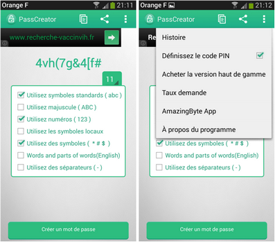 Capture d'écran Mot de passe générateur Android