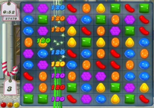 Capture d'écran Candy Crush Saga
