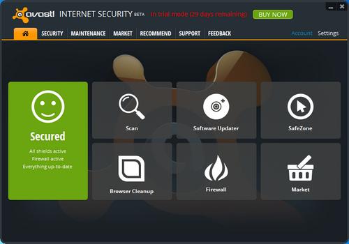 Capture d'écran Avast! Browser Cleanup