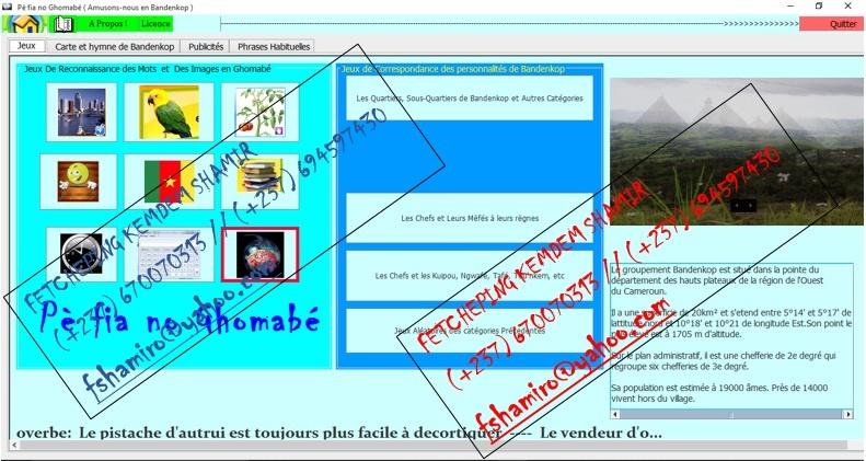 Capture d'écran PèFiaNoGhomabé (Amusons-nous en Bandenkop)