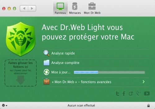 Capture d'écran Dr. Web Antivirus pour Mac OS X