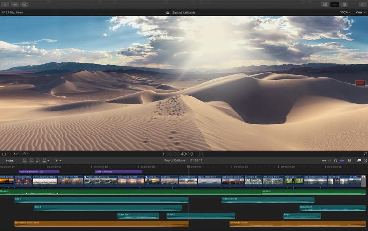 Capture d'écran Final Cut Pro