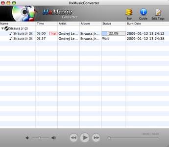 Capture d'écran HxMusicConverter