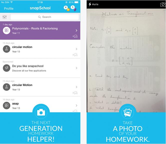 Capture d'écran SnapSchool Android