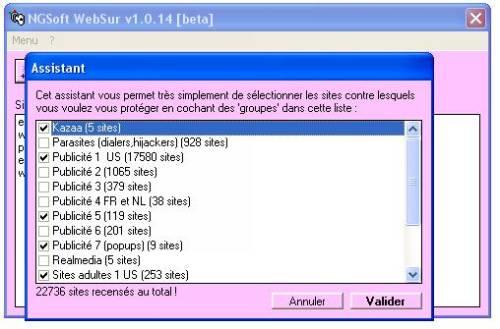 Capture d'écran WebSur