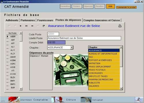 Capture d'écran Le Gestionnaire Financier
