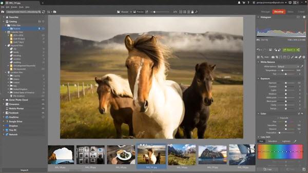Capture d'écran Zoner Photo Studio X