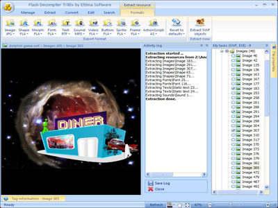 Capture d'écran SWF to FLA Converter