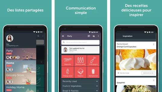 Capture d'écran Bring! Liste de courses Android