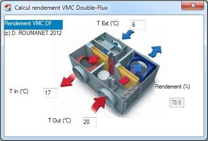 Capture d'écran Rendement Double-Flux (RDF)